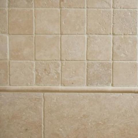 Мозаика Травертин Classic 23х23x6 мм Стареная | Валтованная | Античная