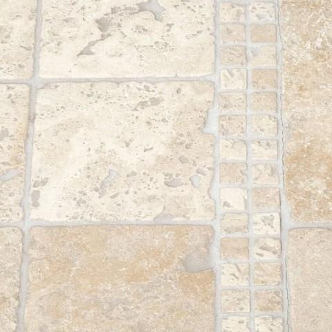 Мозаика Травертин Classic 47х47x6 мм Стареная | Валтованная | Античная