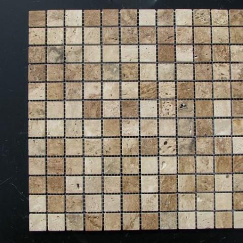 Мозаика Травертин Classic 23х23x6 мм Полированная