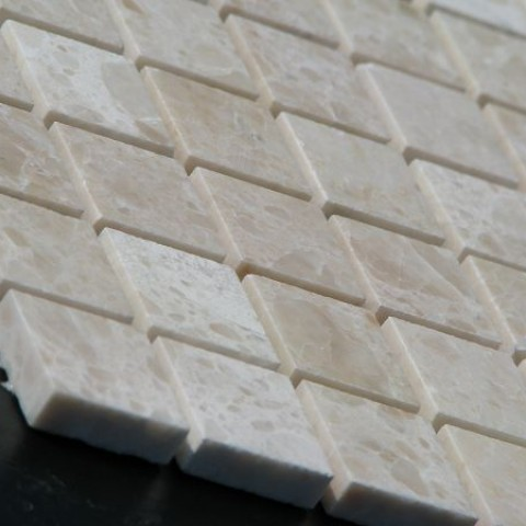 Мраморная мозаика Beige Mix 15x15x6 мм Полированная