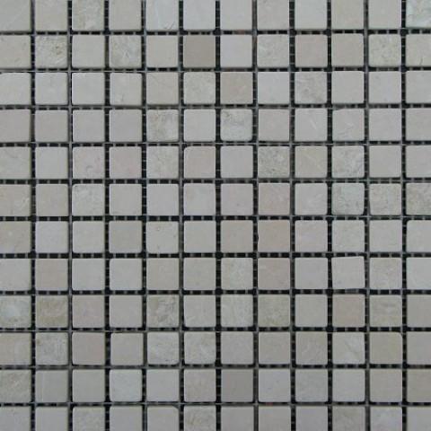 Мраморная мозаика Beige Mix 15x15x6 мм Стареная | Валтованная