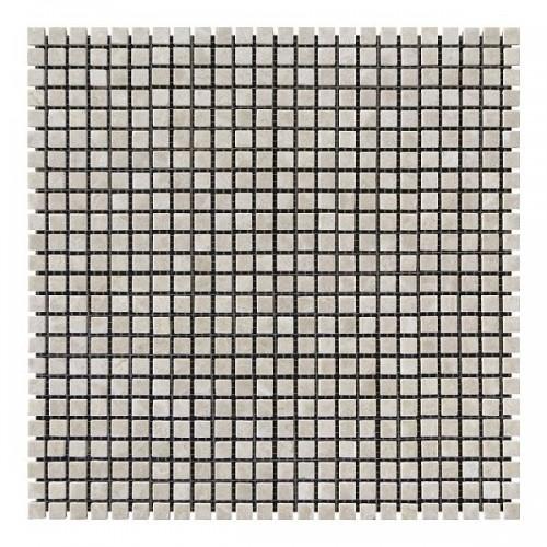 Мраморная мозаика Victoria Beige 10х10x6 мм Полированная