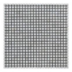 Мраморная мозаика Victoria Beige 10x10x6 мм Стареная | Валтованная