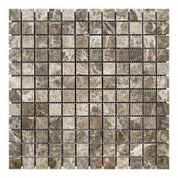 Мраморная мозаика Emperador Dark TR 23x23x6 мм Полированная