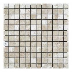 Мраморная мозаика Victoria Beige 23x23x6 мм Полированная