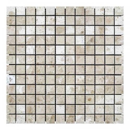 Мраморная мозаика Victoria Mix 23х23x6 мм Полированная