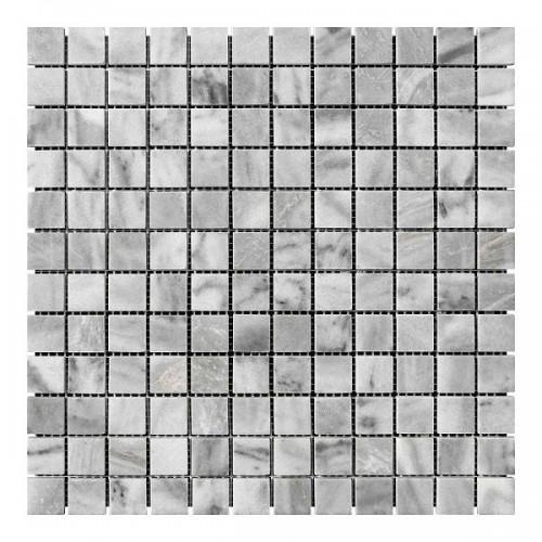 Мраморная мозаика Grey Mix 23х23x6 мм Полированная