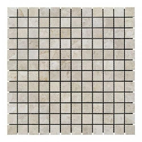 Мраморная мозаика Victoria Beige 23х23x6 мм Полированная
