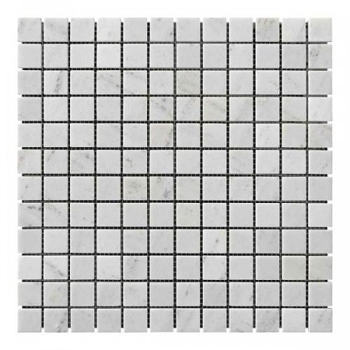 Мраморная мозаика White BI 23х23x6 мм Полированная