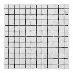 Мраморная мозаика White Mix 23x23x6 мм Стареная   Невалтованная
