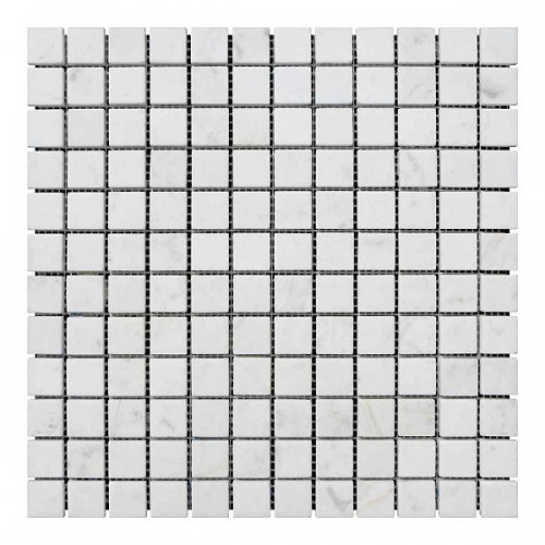 Мраморная мозаика White Mix 23х23x6 мм Стареная | Невалтованная
