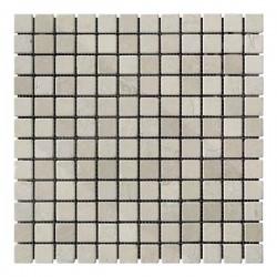 Мраморная мозаика Beige Mix 23x23x6 мм Стареная   Валтованная
