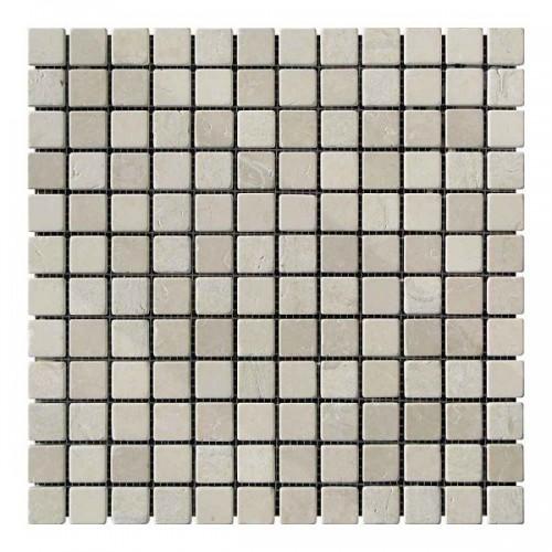 Мраморная мозаика Beige Mix 23х23x6 мм Стареная | Валтованная