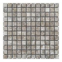 Мраморная мозаика Emperador Light 23x23x6 мм Стареная | Валтованная