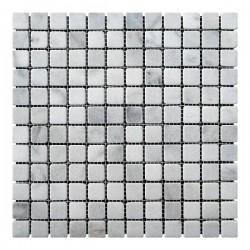 Мраморная мозаика Grey Mix 23x23x6 мм Стареная   Валтованная