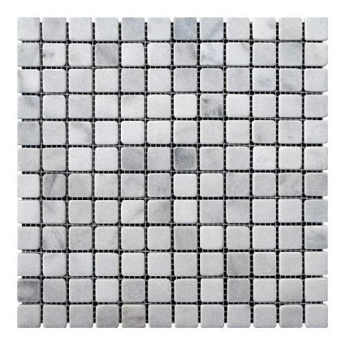 Мраморная мозаика Grey Mix 23х23x6 мм Стареная | Валтованная