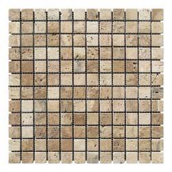 Мозаика Травертин Classic 23x23x6 мм Стареная | Валтованная