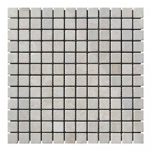 Мраморная мозаика Victoria Beige 23х23x6 мм Стареная | Валтованная