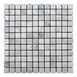 Мраморная мозаика White Mix BI 23x23x6 мм Стареная   Валтованная