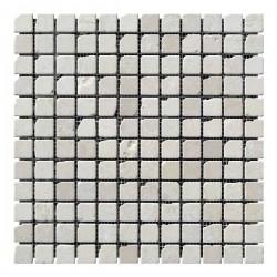 Мраморная мозаика Beige Mix 23x23x6 мм Стареная | Валтованная | Античная