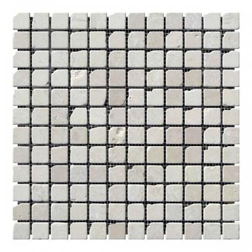 Мраморная мозаика Beige Mix 23х23x6 мм Стареная | Валтованная | Античная