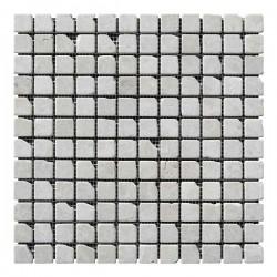 Мраморная мозаика Victoria Beige 23x23x6 мм Стареная | Валтованная | Античная