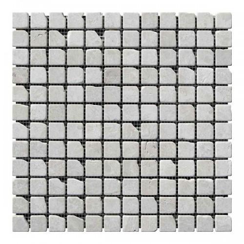 Мраморная мозаика Victoria Beige 23х23x6 мм Стареная | Валтованная | Античная