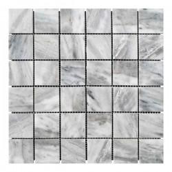 Мраморная мозаика Grey Mix 47x47x6 мм Полированная