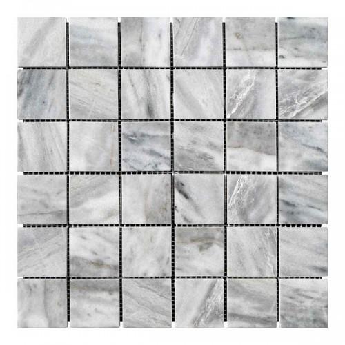 Мраморная мозаика Grey Mix 47х47x6 мм Полированная