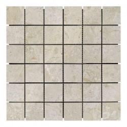 Мраморная мозаика Victoria Beige 47x47x6 мм Полированная