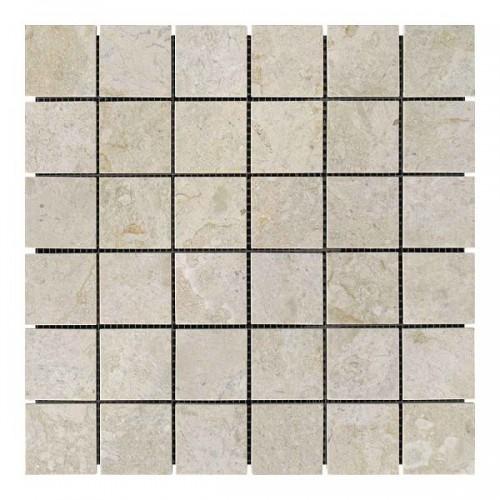 Мраморная мозаика Victoria Beige 47х47x6 мм Полированная