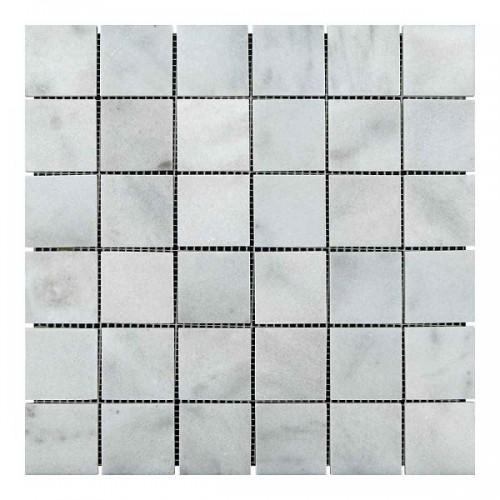Мраморная мозаика White BI 47х47x6 мм Полированная