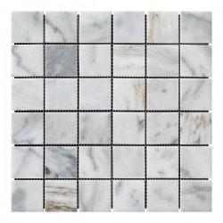 Мраморная мозаика White Mix 47x47x6 мм Полированная