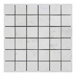 Мраморная мозаика White Mix 47x47x6 мм Стареная   Невалтованная