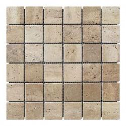 Мозаика Травертин Classic 47x47x6 мм Стареная | Валтованная