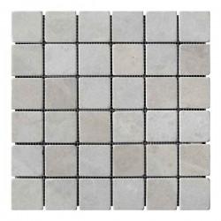 Мраморная мозаика Victoria Beige 47x47x6 мм Стареная   Валтованная