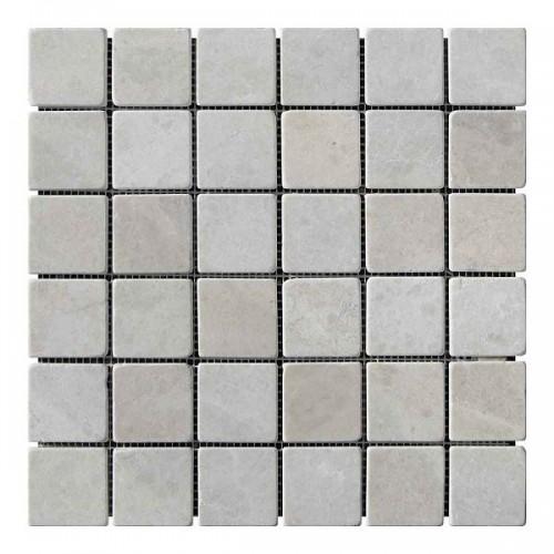 Мраморная мозаика Victoria Beige 47х47x6 мм Стареная | Валтованная