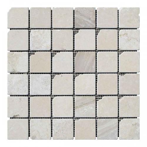 Мраморная мозаика Beige Mix 47х47x6 мм Стареная | Валтованная | Античная