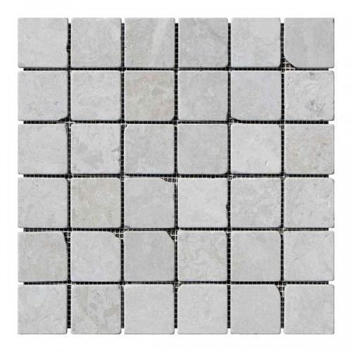 Мраморная мозаика Victoria Beige 47х47x6 мм Стареная | Валтованная | Античная