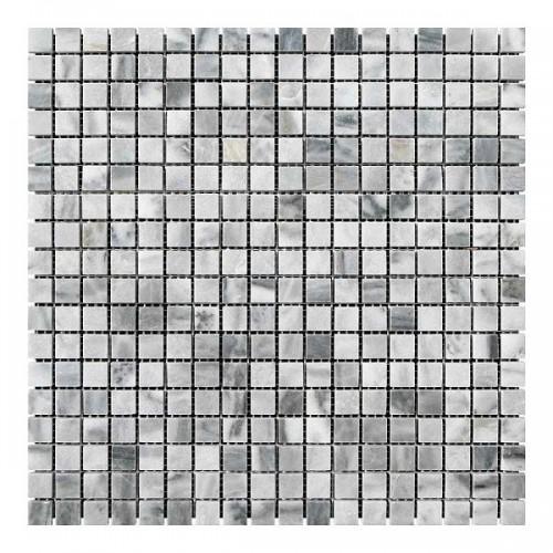 Мраморная мозаика Grey Mix 15x15x6 мм Полированная
