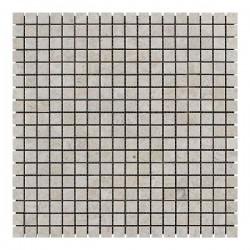 Мраморная мозаика Victoria Beige 15x15x6 мм Стареная   Валтованная