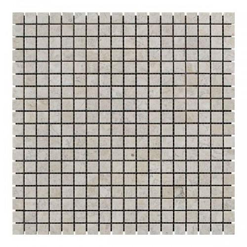 Мраморная мозаика Victoria Beige 15x15x6 мм Стареная | Валтованная
