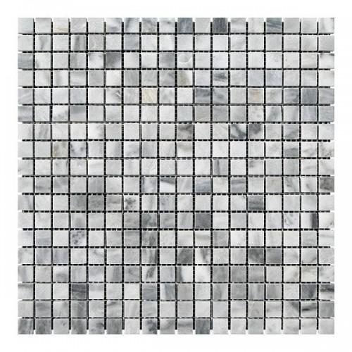 Мраморная мозаика White BI 15x15x6 мм Полированная