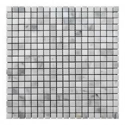 Мраморная мозаика White Mix BI 15x15x6 мм Полированная