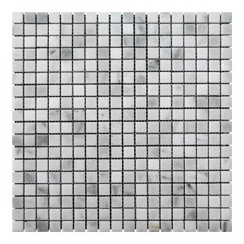 Мраморная мозаика White Mix 15x15x6 мм Полированная