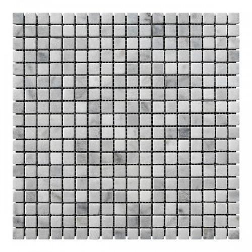 Мраморная мозаика Grey Mix 15x15x6 мм Стареная | Валтованная
