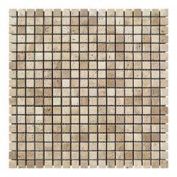 Мозаика Травертин Classic 15x15x6 мм Стареная | Валтованная