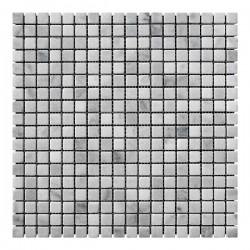 Мраморная мозаика White Mix 15x15x6 мм Стареная   Валтованная