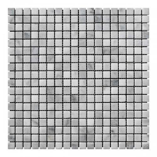 Мраморная мозаика White Mix 15x15x6 мм Стареная | Валтованная
