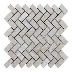 Мраморная мозаика Beige Mix 47x23x6 мм Полированная